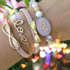 Love and bow bracelets
