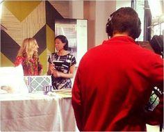 Robin Wilson films segment for WGN-TV, Chicago (May