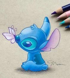 My Disney Drawing - Stitch (Drawing by PiperMiru 😊 😊) . My Disney Drawing - Stitch (Drawing by P . Cute Disney Drawings, Cartoon Drawings, Easy Drawings, Drawing Disney, Drawing Sketches, Cartoon Art, Pencil Drawings, Cute Stitch, Lilo Stitch