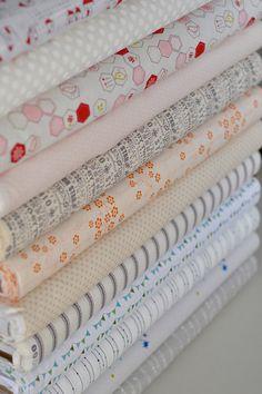Inside Voices Low Volume Fabric Bundle of 12 Fat Quarters. $29.90, via Etsy.