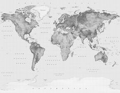 The Black and White Atlas World Map is an elegant choice for a feature wall. An educational tool as well as a beautiful wall decoration, this classic design will add luxury to your interior space. World Map Wallpaper, World Map Poster, World Map Wall Art, Wall Maps, Imac Wallpaper, Watercolor World Map, Wallpapers Tumblr, World Map Design, Detailed World Map