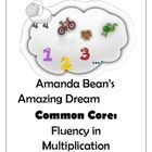 "Making the literature/math connection has never been more fun!  After reading, ""Amanda Bean's Amazing Dream,""  students will do activities to reinforce the connection between addition and multiplication.  Opportunities for both guided and individual practice are provided.  Board game also included."