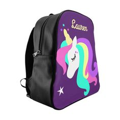 Excited to share the latest addition to my shop  Kids Unicorn Backpack,  Personalized Unicorn, School Backpack, custom name girl s backpack 7347851ee5