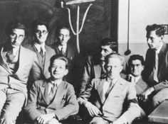 Werner Heisenberg was after the expulsion of Jews, NAZI Germany's top theoretical physicist and was chosen to lead the NAZI bomb project. He was by all accounts a cultured man and mentored many young physicists, including Jews and foreigners. Here he is about 1930 with some of the young physicists he mentored.