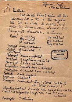"F. Scott Fitzgerald conjugates ""cocktail"" as a verb."