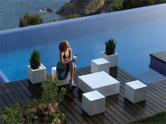 #Garden pouf QUADRAT by @Vondom #outdoor #pool