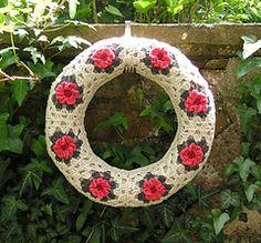 Rose granny square wreath Pattern $2.97