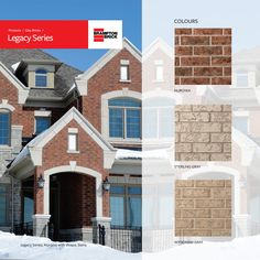 Legacy Series stands apart offering natural shades in a texture that resembles the look of pressed bark. One of Brampton Brick's most established product lines, this textured clay brick gives a stately look to any residential or commercial building. Sterling Grey, Brick, Commercial, Palette, Clay, Shades, Colours, Texture, Mansions