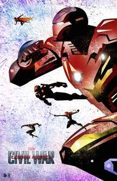Les Illustrations Captain America : Civil War du Poster Posse – Geek Art – Art, Design, Illustration & Pop Culture !
