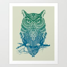 Evening Warrior Owl Canvas Print by thirstyfly Tribal Eagle Tattoo, Tribal Owl Tattoos, Owl Canvas, Canvas Prints, Scary Owl, Owl Tattoo Meaning, Coque Iphone 7 Plus, Iphone 8, Owl Wallpaper