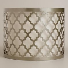 Moroccan Lattice Drum Table Lamp Shade at Cost Plus World Market >> #WorldMarket Bed Makeover, Home Decor, Tips & Tricks