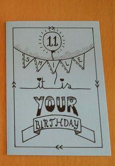 Birthday Card Puns, Birthday Card Drawing, Birthday Letters, Birthday Cards For Friends, Friend Birthday, Cute Cards, Diy Cards, Bff Day, Chalk Lettering