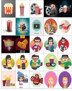Free Printable-Movie Inspired Planner Sticker Sheet
