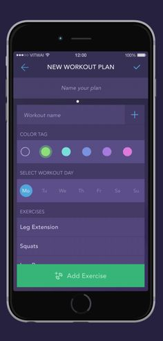 Workout Book – workout tracking app concept on App Design Served