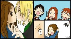 Art by Zuza. Ilustration for Draco and Hermiona story