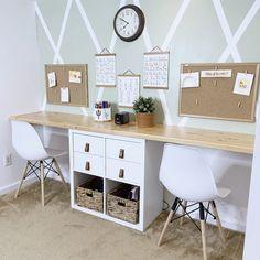 Home Learning, Learning Spaces, Kids Homework Room, Kids Desk Space, Ikea Kids Desk, Kids Office, Multipurpose Room, Home Office Design, Home Organization
