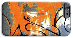 IPhone Case featuring the painting Modern Abstract_1 by Rupam Shah