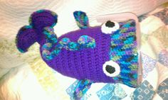 Crochet fish hat made by Lo!