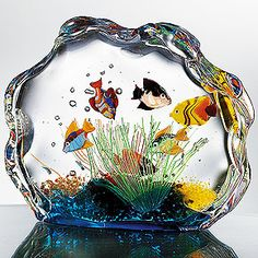 Glass Aquarium I love murano glass, and all the creativity.I love murano glass, and all the creativity. Murano Glass, Venetian Glass, Fused Glass, Stained Glass, Unusual Christmas Gifts, Unusual Gifts, Christmas Christmas, Christmas Cookies, Christmas Crafts