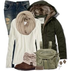 A fashion look from November 2014 featuring American Eagle Outfitters sweaters, Abercrombie & Fitch coats and Crafted jeans. Browse and shop related looks.