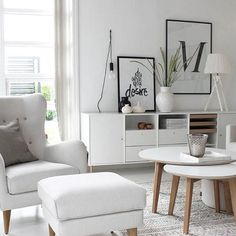 ⠀ // All white / Want to share your home with other Nordic interior lovers? / Tag your photo with #mynordicroom //⠀ Photo credit: @idylloghim ⠀ .⠀ .⠀ .⠀ Don't miss out on your daily Nordic interior design inspiration! Follow us on Facebook / Link in bio
