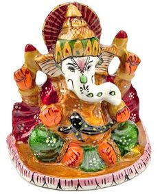 Beautifully hand-painted enameled metal craft Ganapati. Costs Rs 405/- http://www.tajonline.com/gifts-to-india/gifts-HAR117.html?aff=pinterest2013/