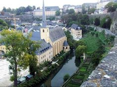 Church in Luxembourg City, Grand Duchy of Luxembourg (German: Großherzogtum Luxemburg) Unique Architecture, Canary Islands, Places To Travel, The Good Place, Cool Photos, Backyard, Real Estate, Explore, Mansions