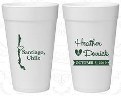 Chile Wedding, Promotional Foam Cups, Destination Wedding, Styrofoam Cups, Santiago Wedding (167)