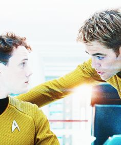 """Chekov & Kirk: Put on the red shirt! <--- and everyone in the audience was like, """"You're going to kill him!"""""""