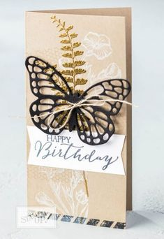 beautiful butterfly basics birthday card PICTURES tutorial