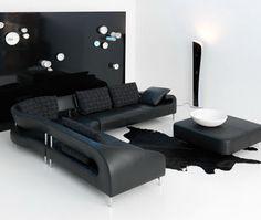 Black furniture in living room