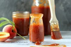 I want to eat this sauce on everything. Peach Barbecue Sauce | Foodness Gracious