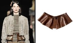 ETRO Leather Peplum Belt.. This is a must have!!
