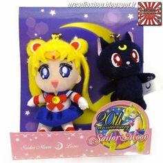 ARCADIA Shop: Sailor Moon Mascot Peluche - Sailor Moon + Luna (A...