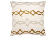 Acrobat 18x18 Wool Pillow, Gold