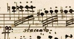 Beethoven's handwriting.