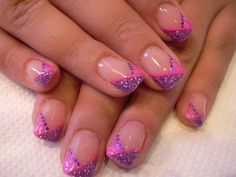 purple/pink glitter chevron
