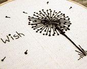 embroider dandelion