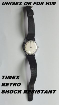 Shock Resistant Timex Wind Up Watch  RETRO  by VINTAGEARTJEWELRY