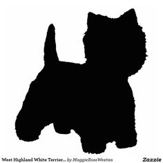 West Highland White Terrier Silhouette Standing Photo Sculpture