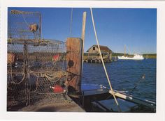 Pier with nets and crab pots, Gloucester County, Virginia by KDhampir, via Flickr