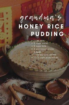 Honey Recipes, Indian Food Recipes, Sweet Recipes, Real Food Recipes, Dessert Recipes, Cooking Recipes, Yummy Food, Rice Recipes, Dessert Ideas