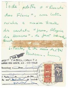 Coleção Glorias - Em 1961, o poeta Vinicius de Moraes autoriza em cartório a edição de uma música escrita por ele.