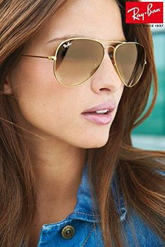 eb5840b93a Ray Ban RB3025 001 51 Gold Gradient Brown Lenses Aviator Sunglasses 62mm  Discount Ray Bans