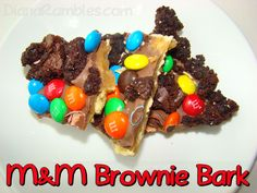 M&M Brownie Candy Bark