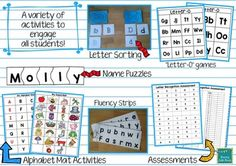 Letter Recognition Activities for Small Group Instruction.  Perfect for RTI/Interventions/Guided Reading groups!  $