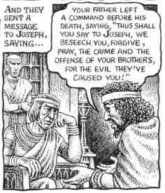 Robert Crumb - The story of Joseph & his brothers - Joseph's brothers beg for forgiveness (Genesis 50:15-16)