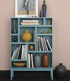 Cool colorful bookcase made from a dresser