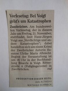 Pfälzischer Merkur Nr. 267, Seite 18, Lokales/Kultur Regional, Kultur-Vorschau, Dienstag, 18. November 2014