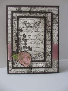 """Stampin' Up Card made with """"Papaya Collage"""" stamp set, Early Espresso and Whisper white cardstock. Handmade Card created by Brenda Montesano - Independent Stampin' Up Demonstrator. Please visit my site at www.montesano.ca"""